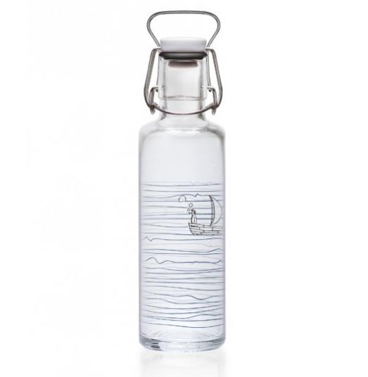 0,6L Soulbottle Glasflasche - Heimat Wasser