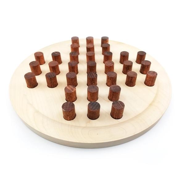 Solitär Spiel aus Holz sächsisches Handwerk 171