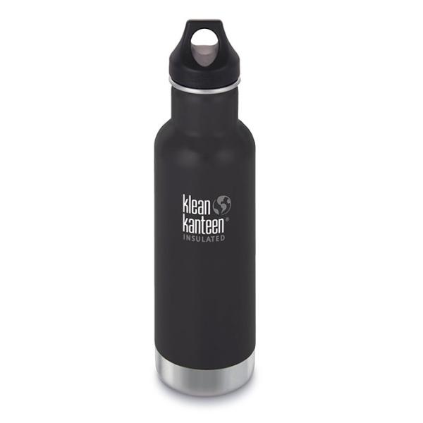 Trinkflasche Classic Klean Kanteen mit Loop Cap (592ml) Edelstahl isoliert