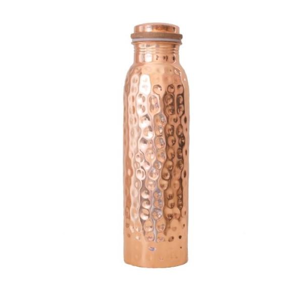 Kupfer Trinkflasche 900ml gehämmerte Struktur