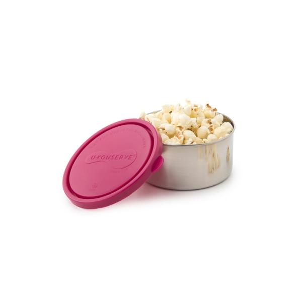 Frischhaltedose - rund - groß - magenta (H 5,5cm, Ø 12cm)