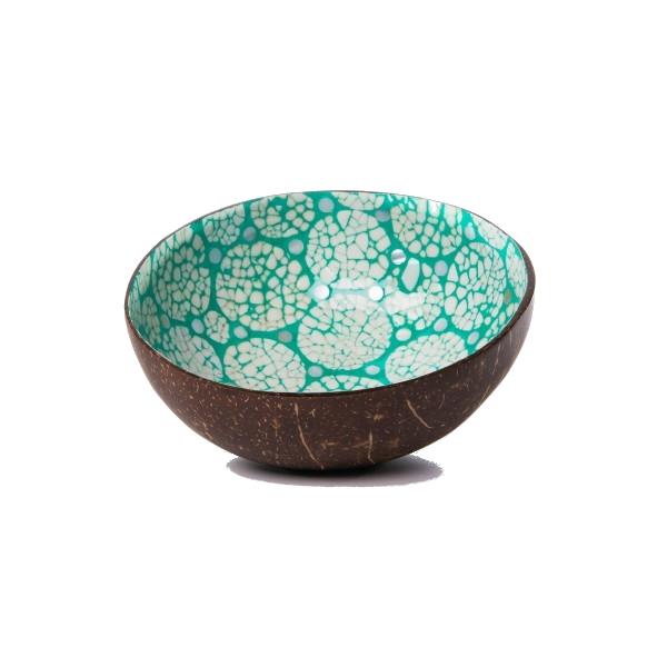 Kokosnussschale Perlmutt-Ei Mosaik - Türkis