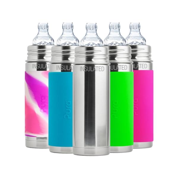 Purakiki Trinklern Isolierflasche 250ml - Übersicht Farben