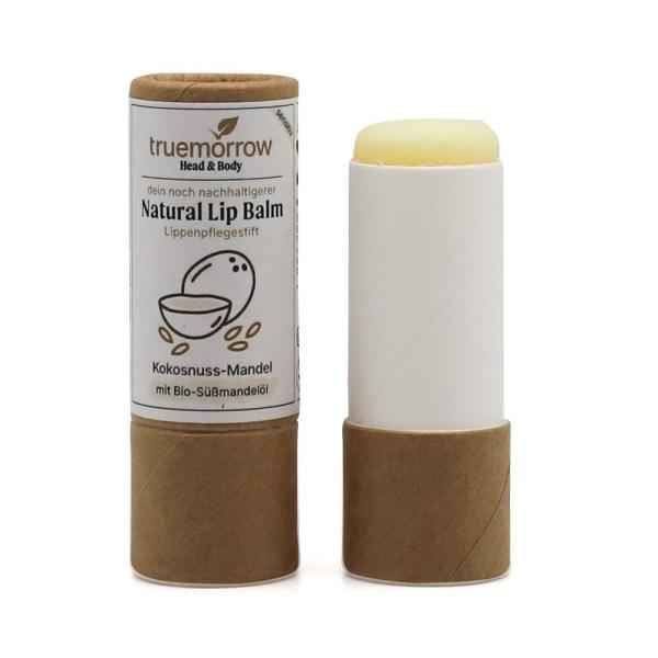 Natural Lip Balm - Natürlicher Lippenpflegestift in Papierhülse - Kokusnuss-Mandel