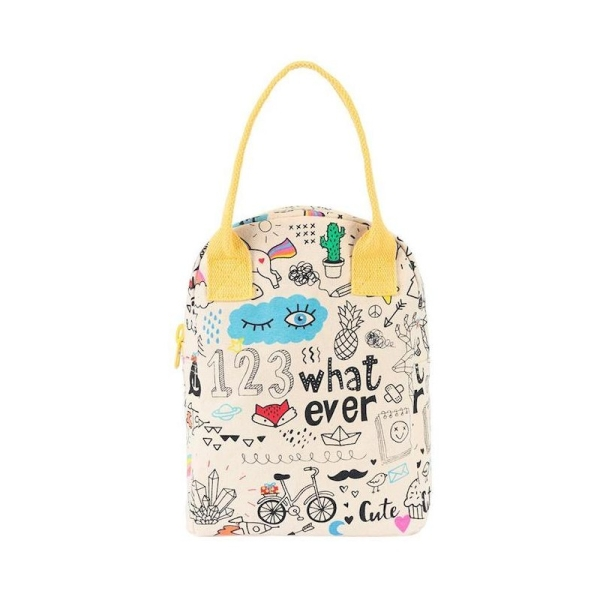 Fluf Lunchtasche mit Reißverschluss - Whatever