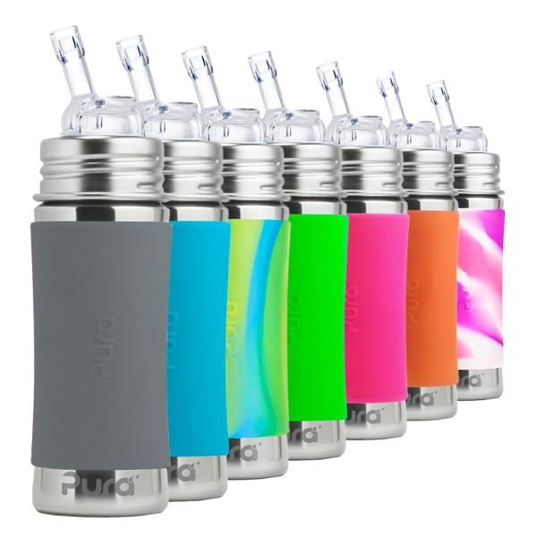 Purakiki Trinkhalmflasche 300ml - Übersicht Farben