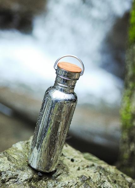 Edelstahl Trinkflasche Klean Kanteen Reflect (800ml) - matt am Wasserfall