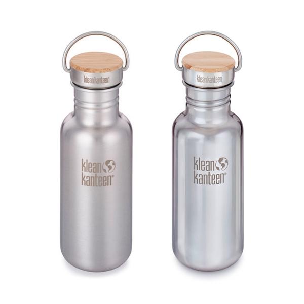 Edelstahl Trinkflasche Reflect 532ml mit Bambus Cap
