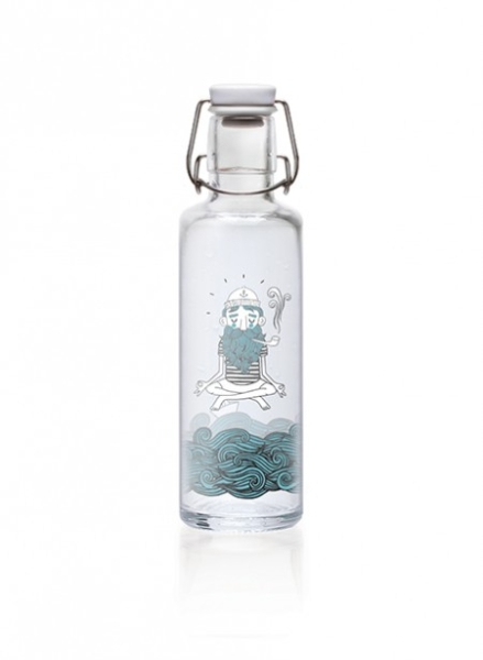 Soulbottles Trinkflasche aus Glas (600ml) - Made in Germany Motiv Soulsailor