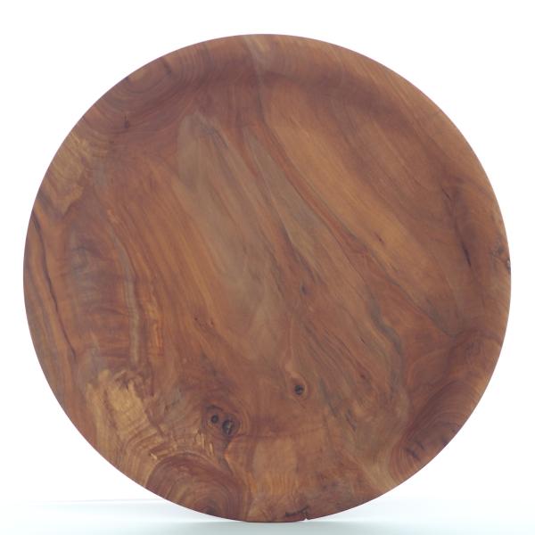 Holzschale aus Ulmenholz Höhe 5 cm Ø 40 cm Unikat