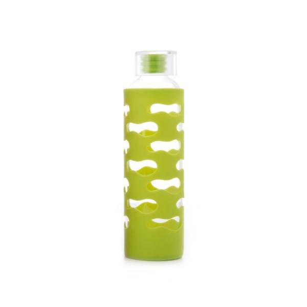 Glasflasche mit Silikonhülle (570ml) Farbe Lime
