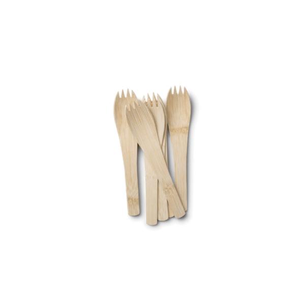 Bambus Spork mit Griff im 4er, 6er, 8er, 12er und 24er Set