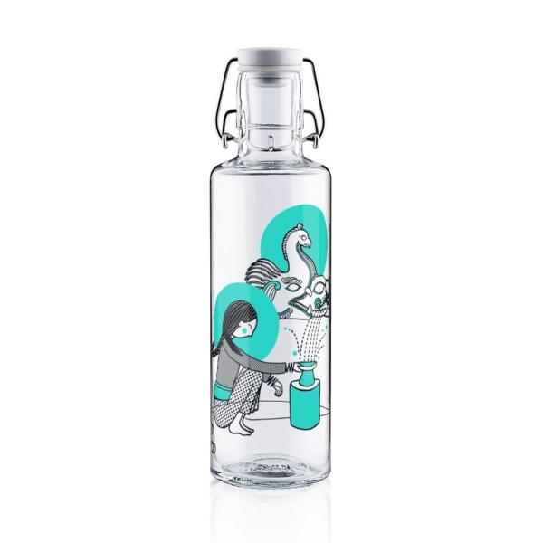 0,6L Soulbottle Glastrinkflasche - Hüterin der Quelle
