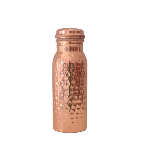 Kupfer Trinkflasche 600ml gehämmert