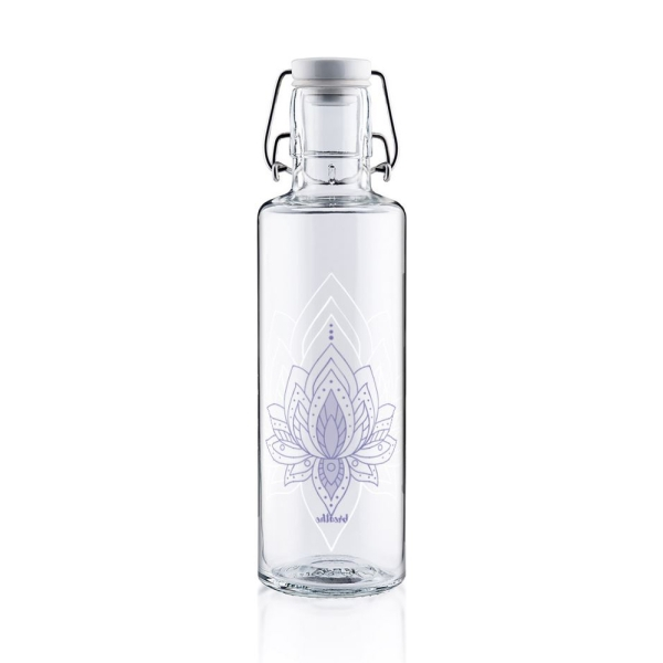 0,6L Soulbottle Trinkflasche aus Glas - Just breathe