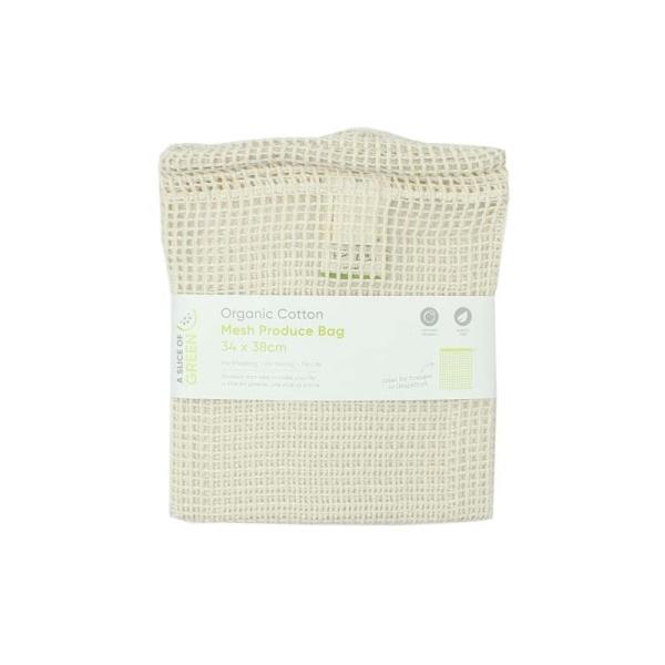 Lebensmittel Beutel aus Bio Baumwolle - groß - Meshgewebe