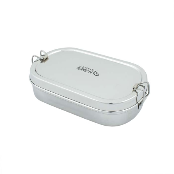 Edelstahl Lunchbox Oval inkl. Mini Dose von A Slice of Green
