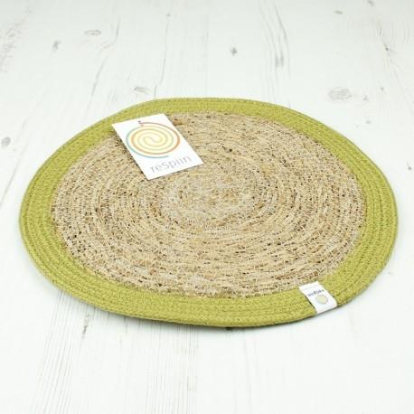 Runde Tischmatte aus Seegras und Jute Ø 28 cm