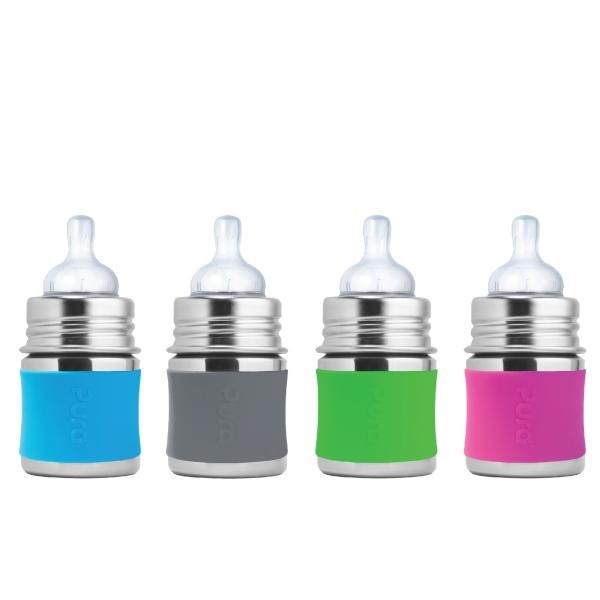 Pura Kiki Babyflasche mit Sauger 125ml - ab Geburt in verschiedenen Farben