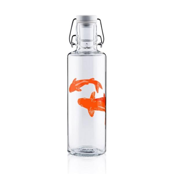 0,6L Soulbottle Trinkflasche aus Glas - Kois