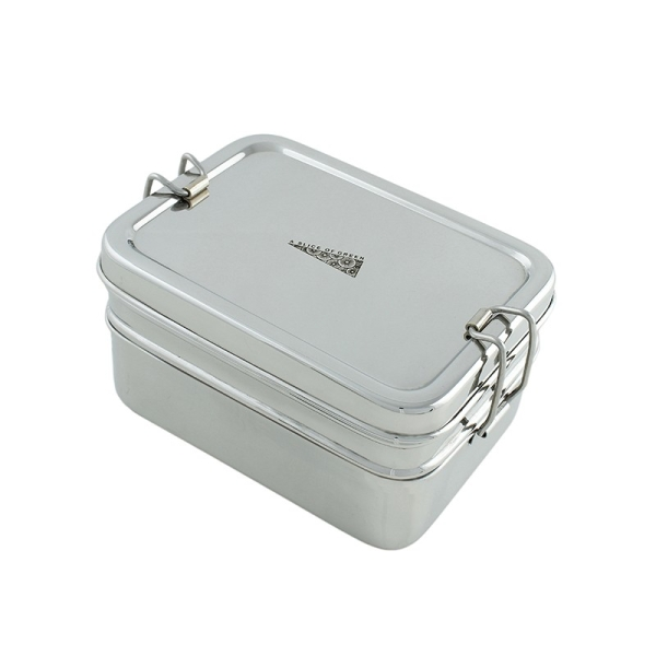 Edelstahl Brotdose Doppeldecker inkl. Minibox