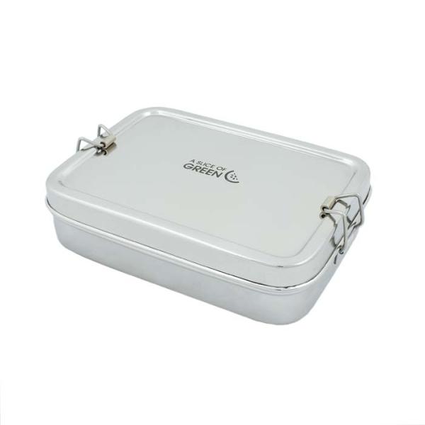 Edelstahl Brotdose mit Mini Container - Rampur