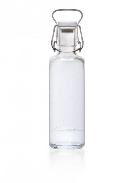 Soulbottles Trinkflasche aus Glas (600ml) - Made in Germany Motiv Einfach nur Wasser