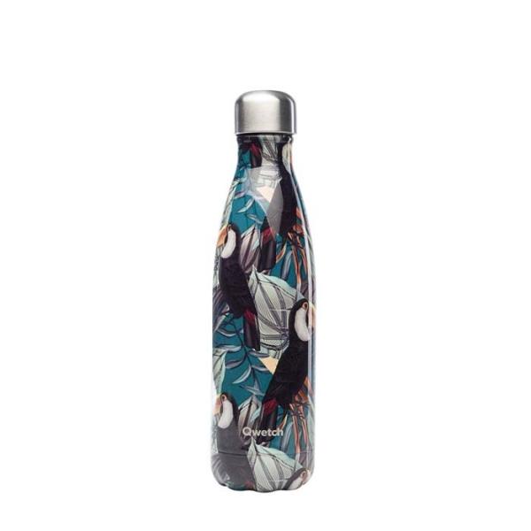 Isolierte Trinkflasche 500ml - Tropischer Tukan