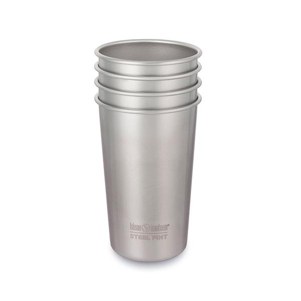 Edelstahl Trinkbecher Klean Kanteen® (473 ml) – 4er Pack Set