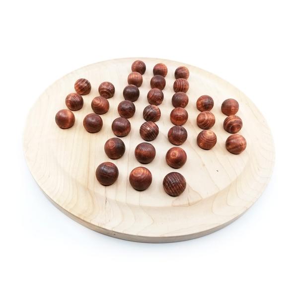 Solitär Spiel aus Holz mit Kugeln sächsisches Handwerk 177