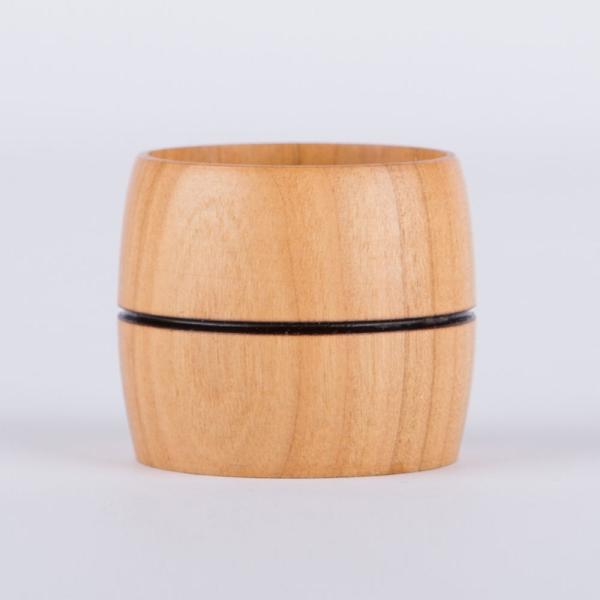 Serviettenhalter aus Kirschbaumholz handgefertigt - Durchmesser: ca. 4 cm