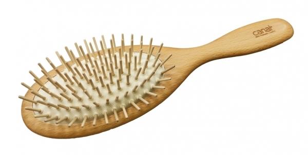 Haarbürste aus Buchenholz mit Holzstiften - Made in Austria