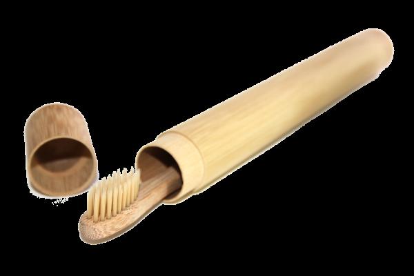 Bambus Etui für Bambus Zahnbürste