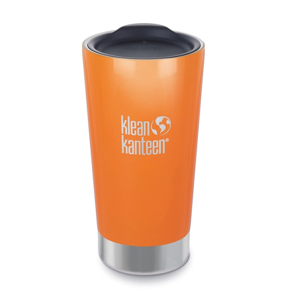 Klean Kanteen Edelstahl Trinkbecher - Tumbler 473ml isoliert Coffee2Go Orange
