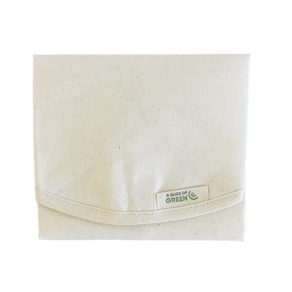 Baumwoll-Täschchen rund für Sandwiches ideal, waschbar