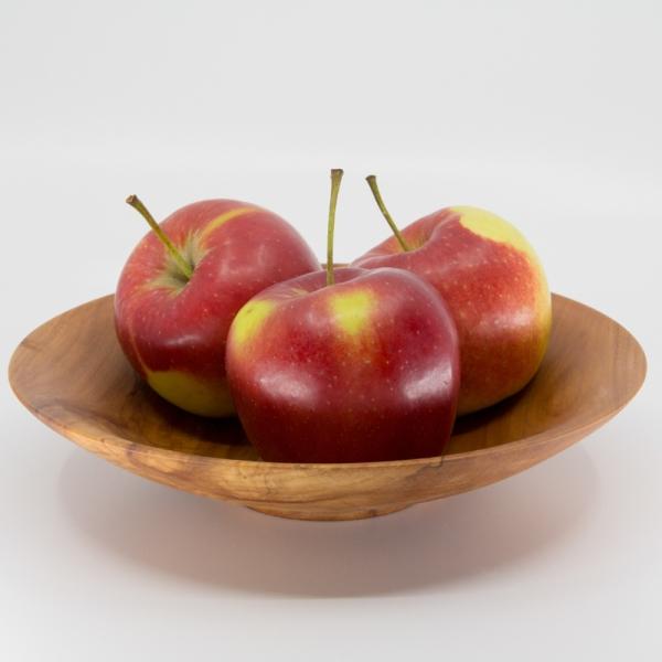 Holzschale aus Apfelbaumholz Unikat als Obstschale
