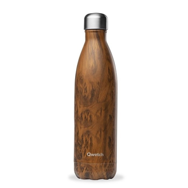 Isolierte Trinkflasche 750ml - Special Edition Holzoptik