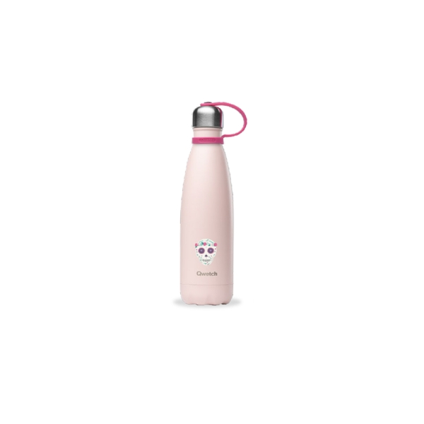 Qwetch Kids Collection isolierte Edelstahl Trinkflasche 500ml Pastell Rosa