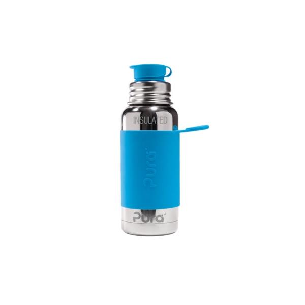 Pura Isolierte Sportflasche 475ml mit Sleeve - Aqua