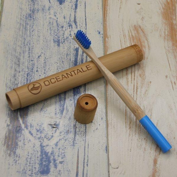 Bambus Zahnbürste mit Bambus Etui