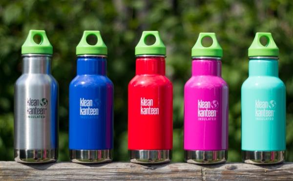 Kid Kanteen Edelstahl Trinkflasche Classic isoliert mit Loop Cap 355ml - Farben