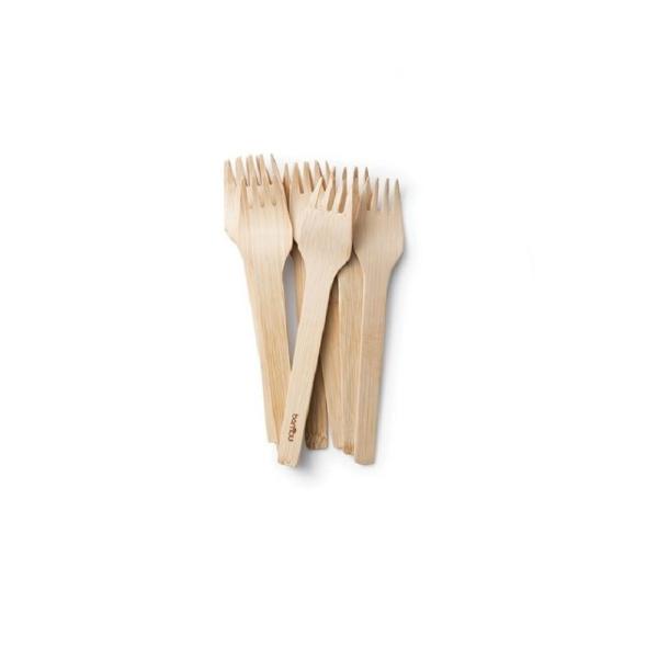 Bambus Gabel - Veneerware Forks im 6er, 12er oder 24er Set