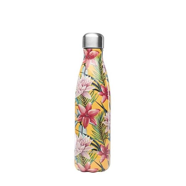 Isolierte Trinkflasche 500ml - Tropische Blumen