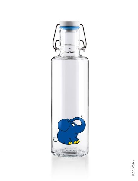 0,6L Soulbottle Glasflasche - Der Elefant