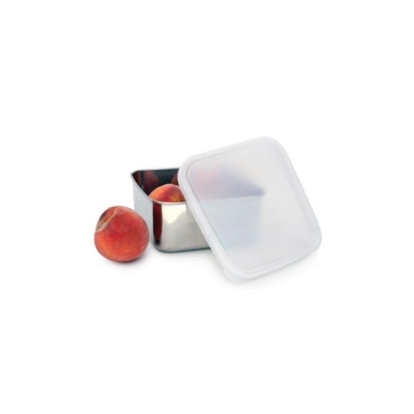 Edelstahl Brotdose - quadratisch und klar