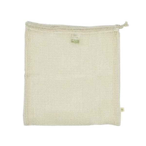 Aufbewahrungbeutel aus Baumwelle Netzgewebe für den Einkauf wiederverwendbar