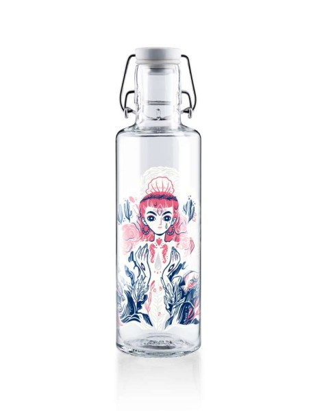 0,6L Soulbottle Glas Trinkflasche - Mother of Oceans
