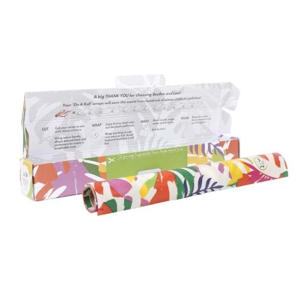 Blatt Wraps - Wraps auf der Rolle - Motiv Botanic vegan