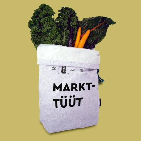 Markt-Tüüt - unverpacktes Einkaufen, Platz für 1 Salatkopf oder 15 Äpfel