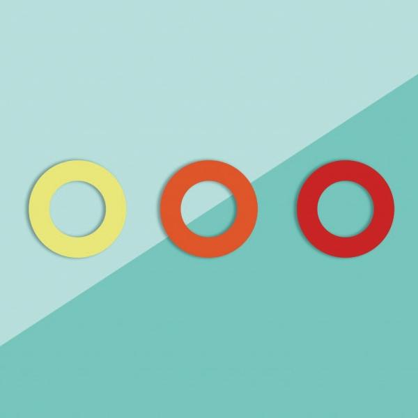 Soulbottles 3er Pack Gummis, gelb, orange, rot